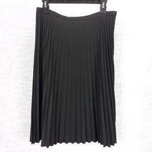 Talbots Black Classic Accordion Pleat Skirt 10